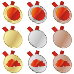 fully editable buthan vector flag in medal shapes