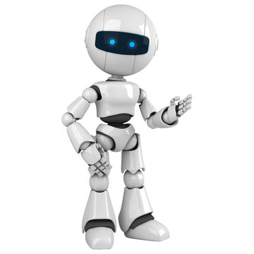 Funny robot stay