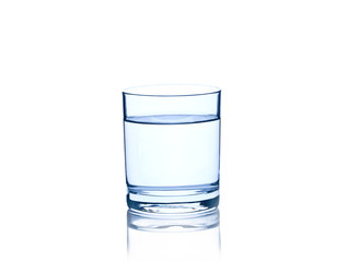 glass with water isolated