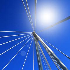 Bridge against a blue sky