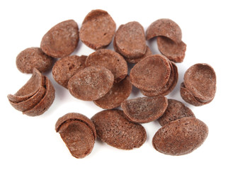 Chocolate crackers isolated on white