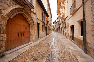 Autocollant pour porte Barcelona Old town in Spain