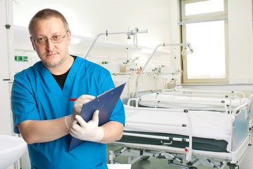 physician in the hospital chamber