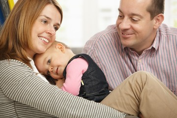 Parents with happy baby