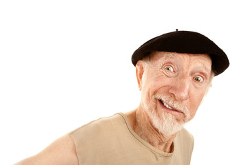 Smiling Man in Beret