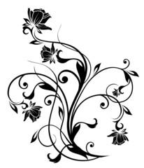 black flower silhouette
