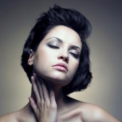 Portrait of beautiful sensual woman