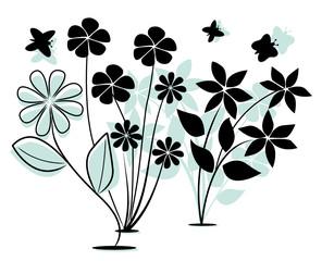 Artistic floral design.