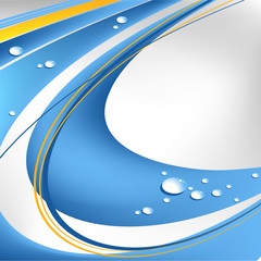 abstract vector background with water drops and lines