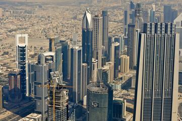 Blick vom Burj Khalifa - höchstes Gebäude der Welt