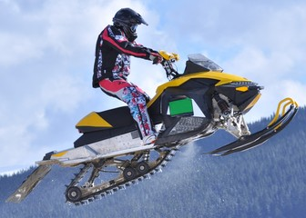 snowmobile jumping