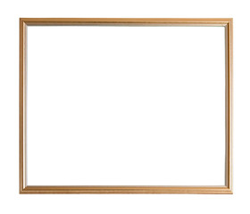 Modern thin gold picture frame