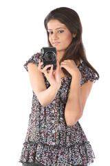 teenage girl with the camera