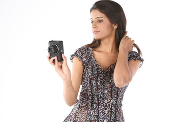 teenage girl with the camera