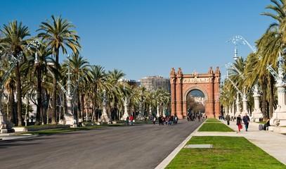 Autocollant pour porte Barcelona Triumph Arch (Arc de Triomf), Barcelona, Spain