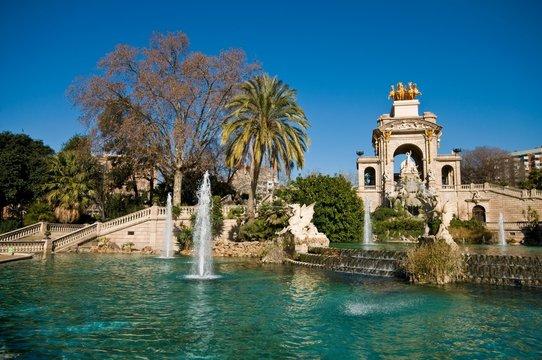 Fountain in citadel park, Barcelona