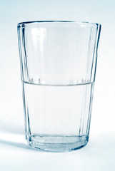 glass transparent cup with water