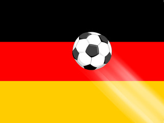 Deutschlandfahne und Fussball