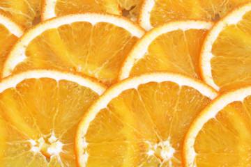 Spoed Foto op Canvas Plakjes fruit Orange in Scheiben