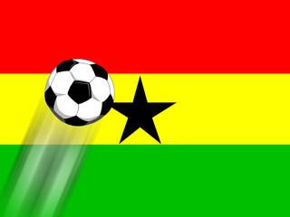 Fussballmannschaft aus Ghana