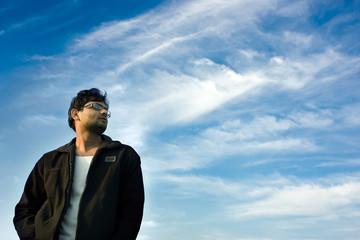 Look at sky