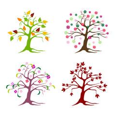 floral tree set