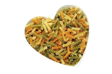 fusilli heart