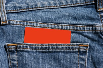 carte , poche , jeans,carton,orange,, texte,pantalon