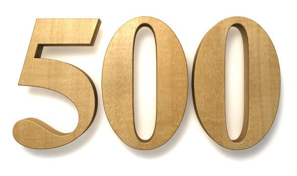 500 wooden birthday celebration anniversary