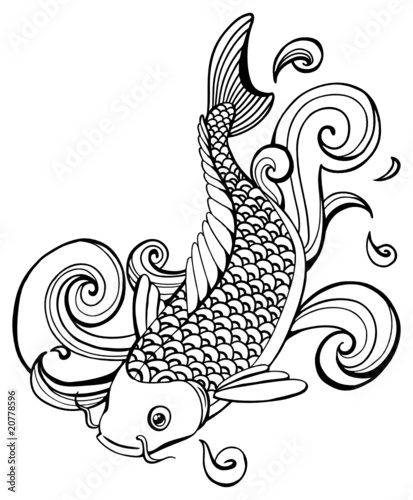 Wood Chips Clip Art ~ Quot koi fish vector stock image and royalty free