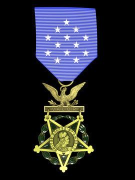3d render Army medal of honor