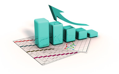 business graph 3d