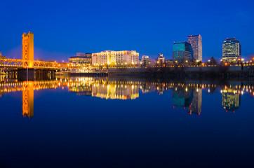 Sacramento reflection in the river
