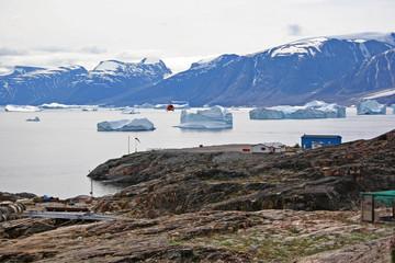 Uumannaq heliport, Greenland.