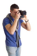 fotografo che scatta