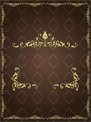 color vintage background in the vector