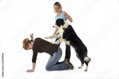 Apprendre au chien monter sur le dos de sa ma tresse - Monter son salon de the ...