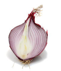 Organic Red Onion Sliced in Half