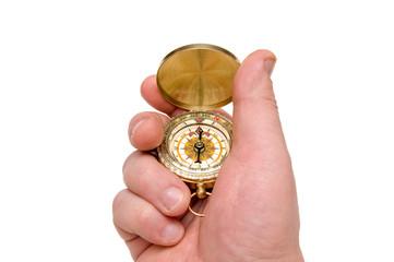 Foto op Plexiglas Bar Compass in hand