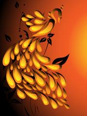beauty gold bird