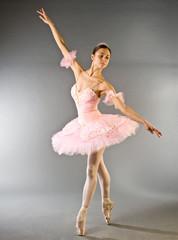 Ballerina's toe dance isolated