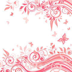 Floral pink card