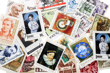collection postage stamp