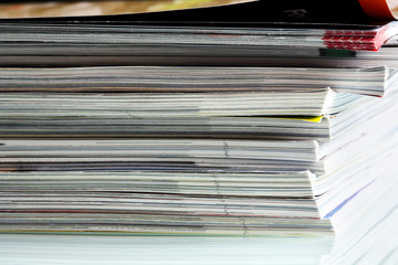 Pile of magazines.