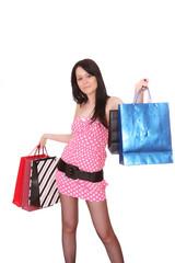 Shopping sexy woman