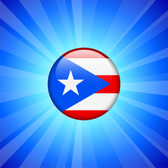 Puerto Rico Flag Icon on Internet Button