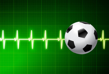 Soccer Ball with Green Pulse