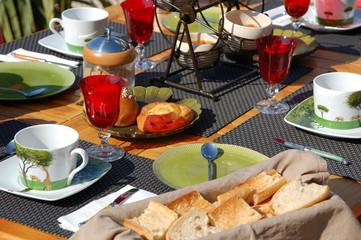 La journée commence ... le petit déjeuner aussi