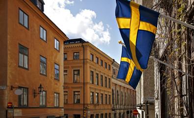 Stockholm Fahne