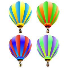 Vector set of hot air balloons
